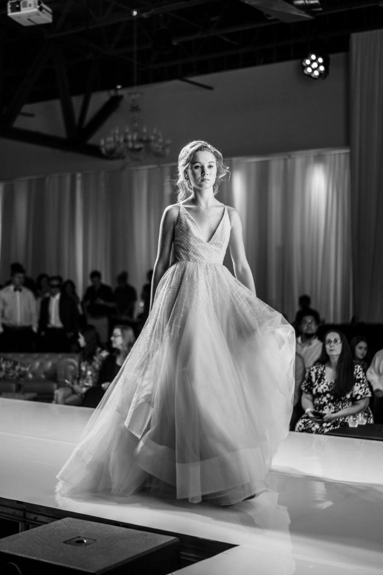 Blonde Model in Wedding Gown