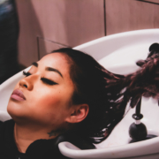Client at Shampoo Bowl