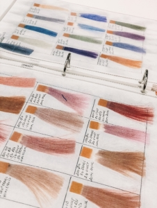 Book with color options for your hair