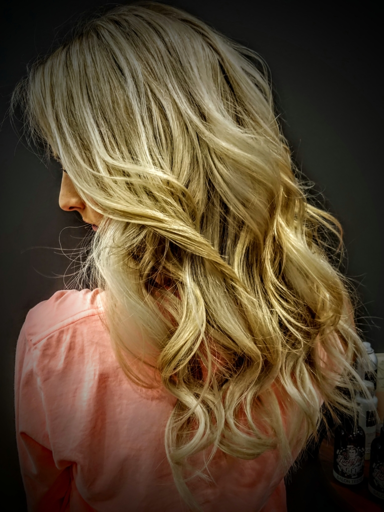Leslie Johnson, Village Pointe, Hair Example - Blonde Curly Hair