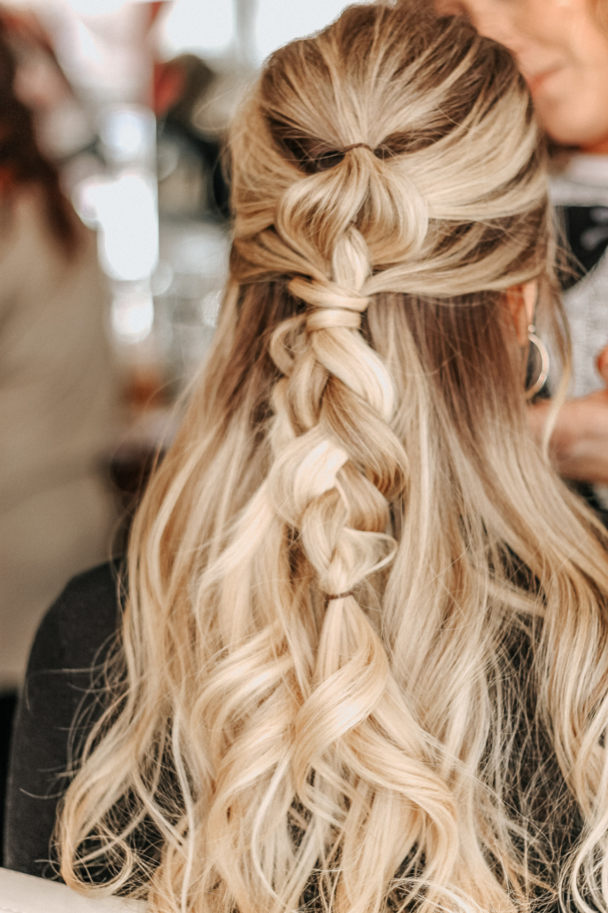 Barre Code and Garbo's Collab - Fitness Hairstyles - Messy Braid