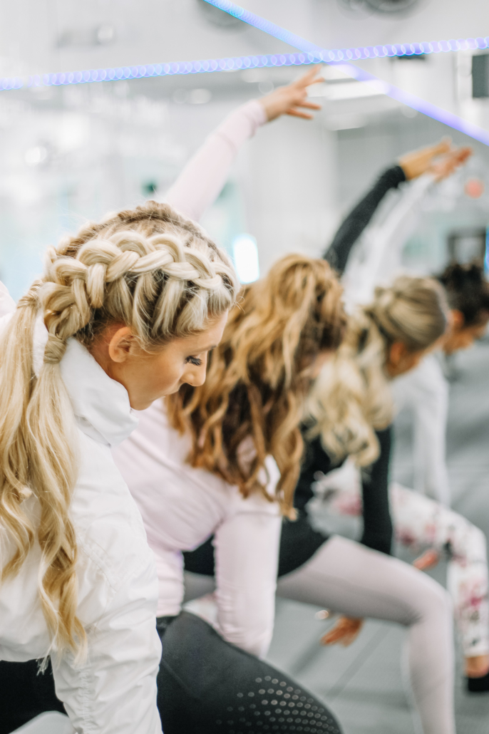 Barre Code and Garbo's Collab - Fitness Hairstyles - Half Braids