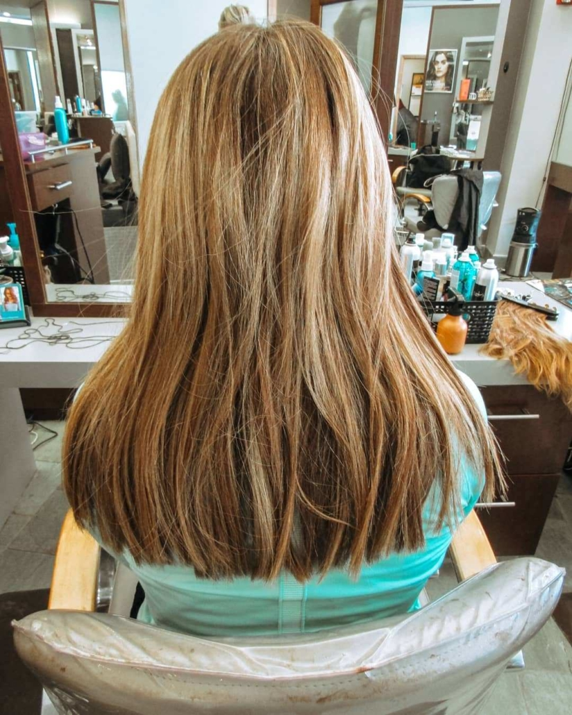 Erica Bang Omaha Hairstylist Installs affordable extensions - Before