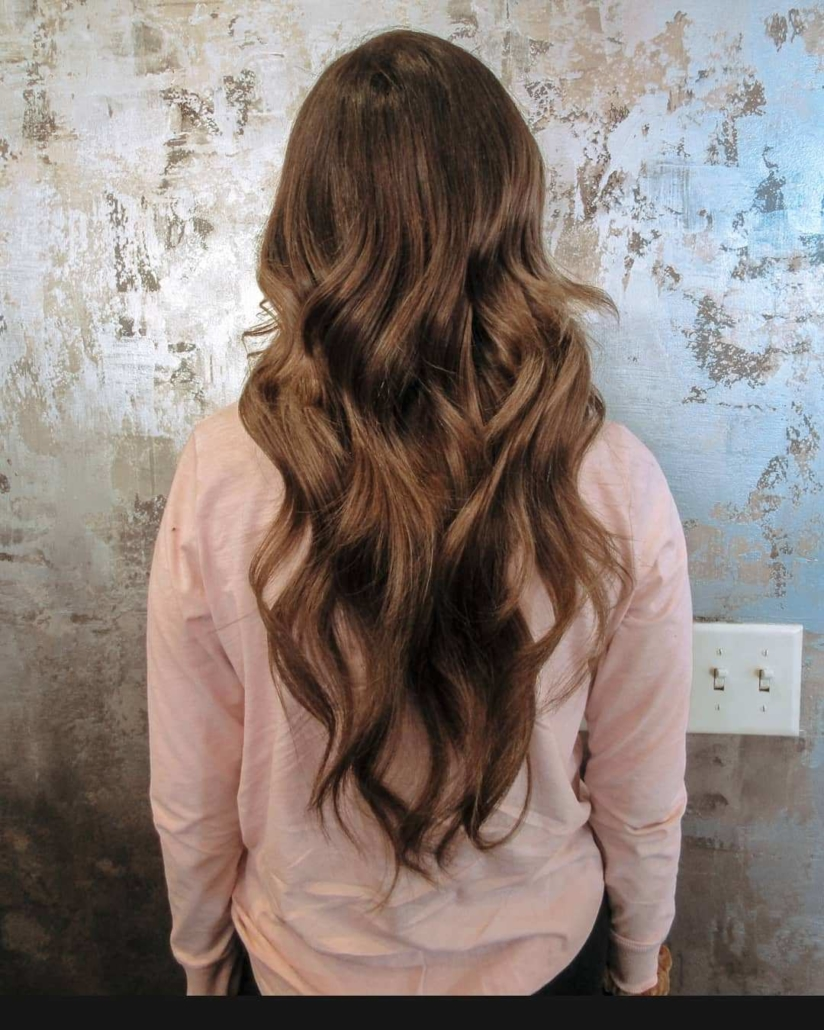 Erica Bang Omaha Hairstylist Installs the best type of extensions - After