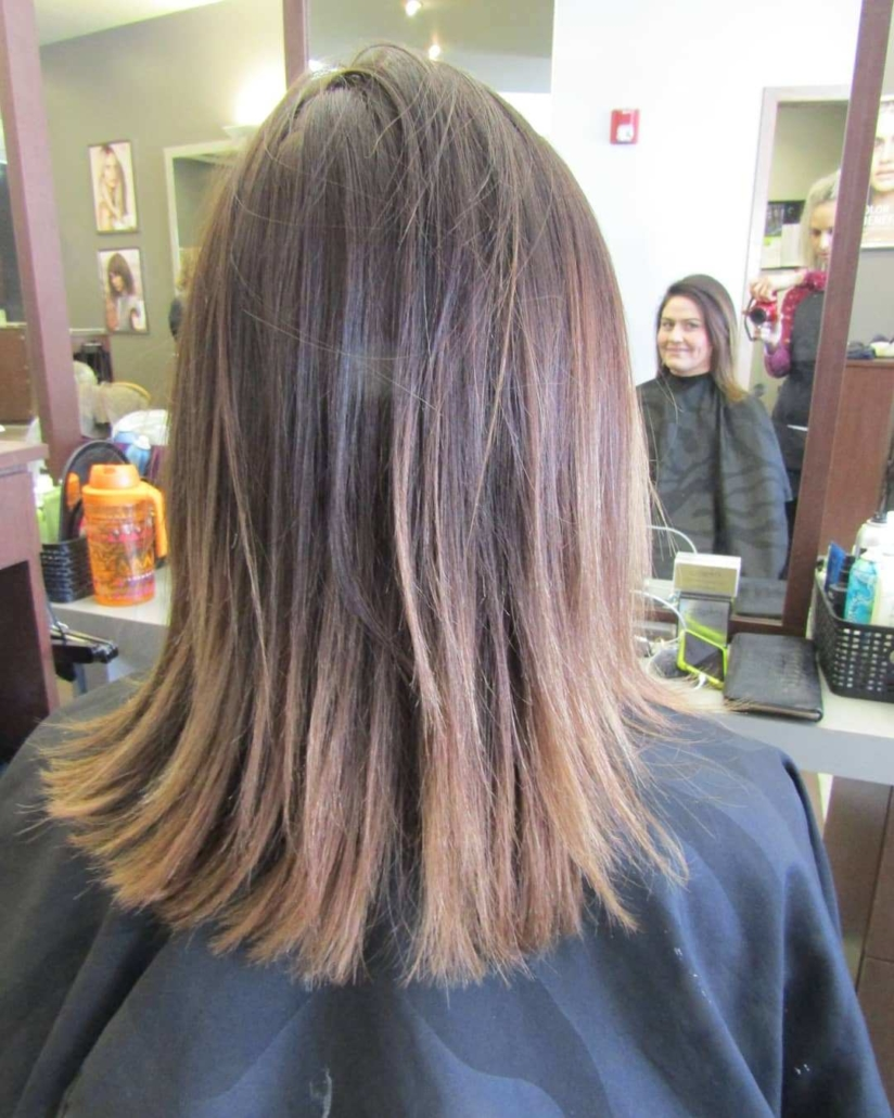 Erica Bang Omaha Hairstylist Installs the best type of extensions - Before