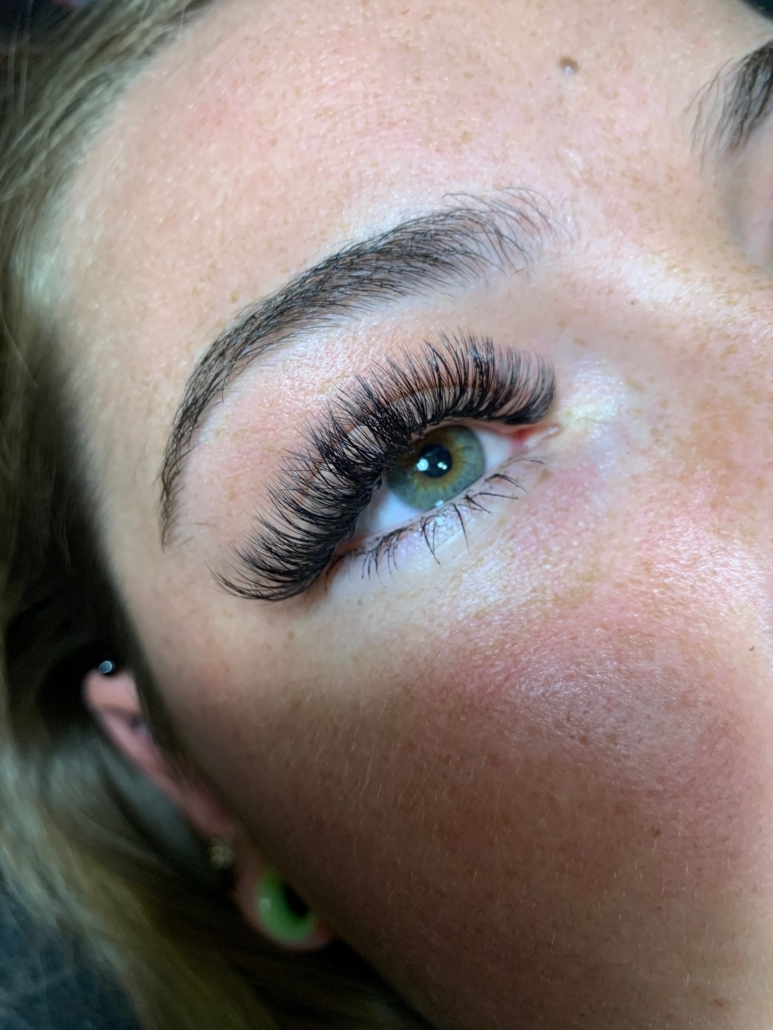 Omaha Hair Stylist Kasey H Fluffy Lash Extensions