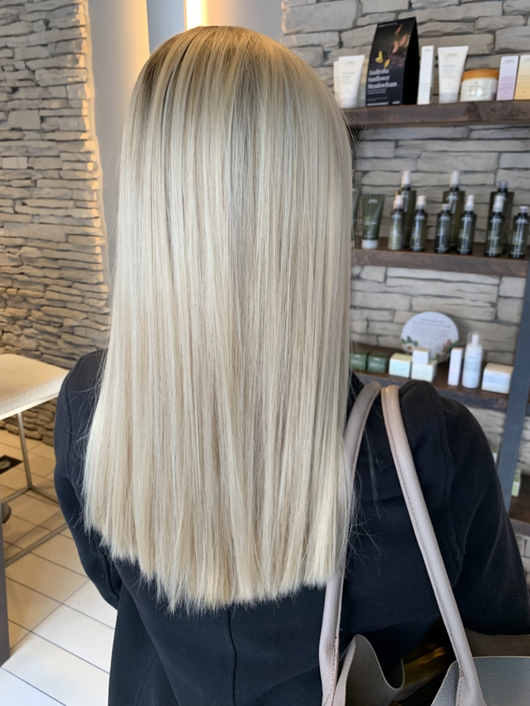 Omaha Hair Stylist Kasey H Straight Blonde Hair