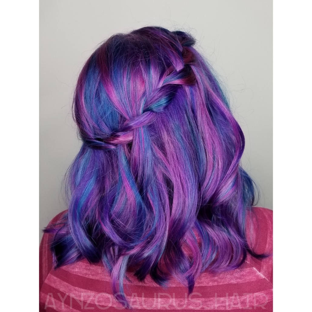 Purple Hair Color by Aynsley Kalahar